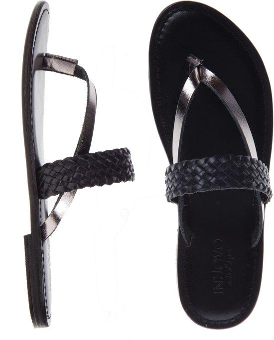 buy online 2cb29 0d269 Inuovo - sandalen - maat 39 - dames - zwart - leder