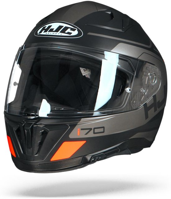 HJC i70 Karon Mc5Sf Zwart Grijs Oranje Integraalhelm - Motorhelm - Maat XL