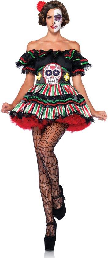 Halloween Kleding Dames.Mexican Day Of The Dead Jurkje Halloweenkleding Dames Maat M L