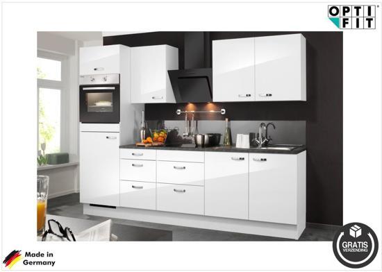Keuken Wandkast 8 : Bol optifit rechte keuken meppen compleet incl apparatuur