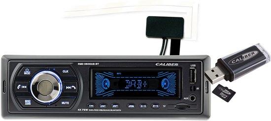 Caliber RMD050DAB-BT - Autoradio met DAB+ en bluetooth - Zwart