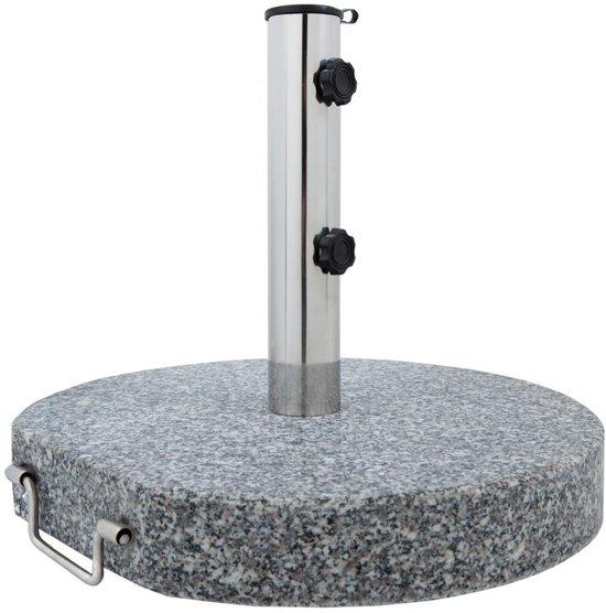 Zweefparasol Met Granieten Voet.Anaterra Ronde Verrijdbare Parasolvoet Graniet Ca 30 Kg Ca O 32 Cm