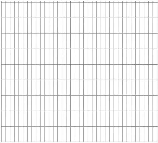 vidaXL Dubbelstaafmatten 2008 x 1830mm 46m Zilver 23 stuks