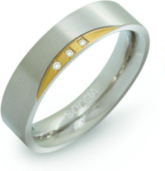 Boccia Ring 0138-04 - Titanium - Zilver- en goudkleurig