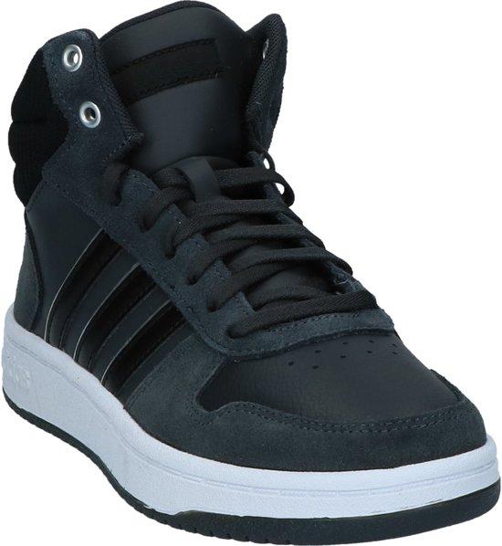adidas - Hoops 2.0 Mid - Sneaker hoog sportief - Dames - Maat 37 -  Grijs;Grijze - Core Black