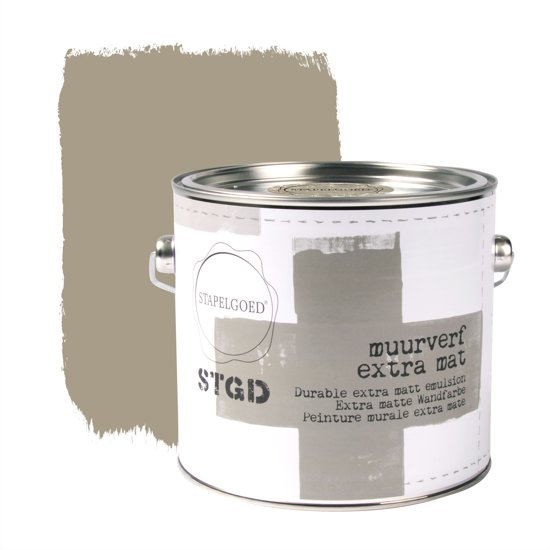 Stapelgoed - Muurverf extra mat - Oxford - Bruin - 2,5L