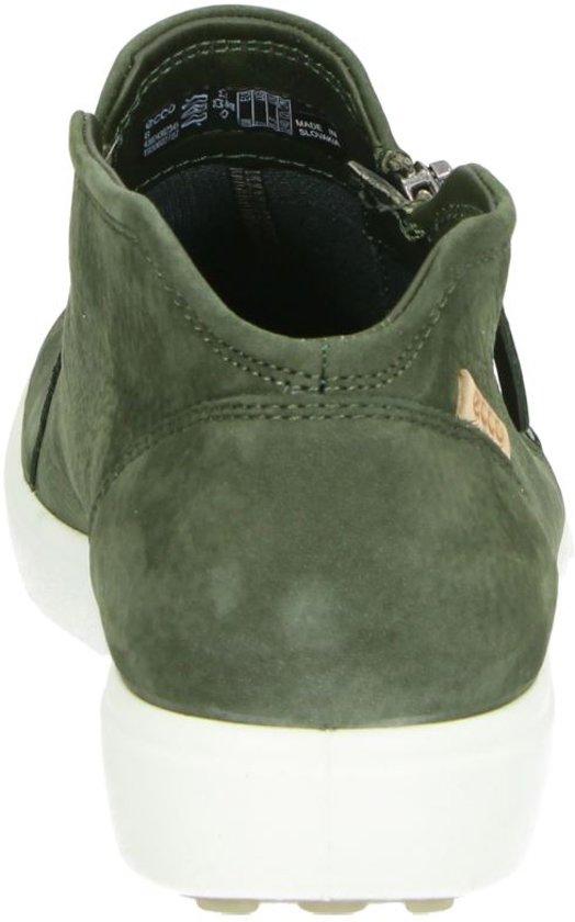 Ecco Soft 7 Dames Enkelboots - Groen
