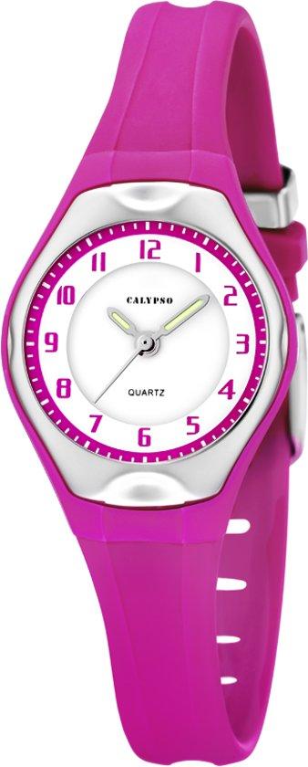 Calypso K5163/K Horloge - Kunststof - Zilverkleurig - 34 mm