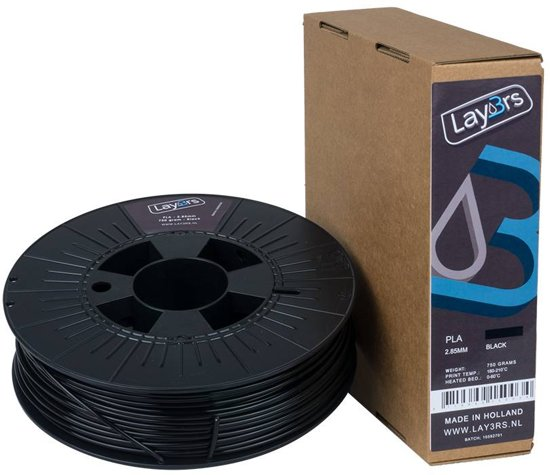 Lay3rs PLA 750gr Black 1.75mm