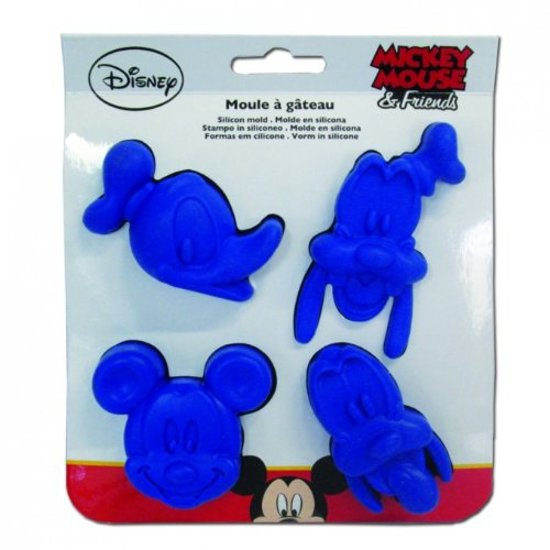 Siliconen Bakvorm - Disney: Mickey Mouse, Pluto, Donald Duck & Goofy
