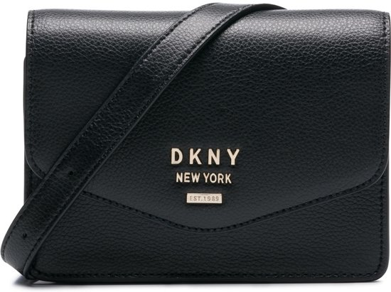 6c372b66f23 DKNY Whitney Black Gold-coloured Heuptas - Zwart