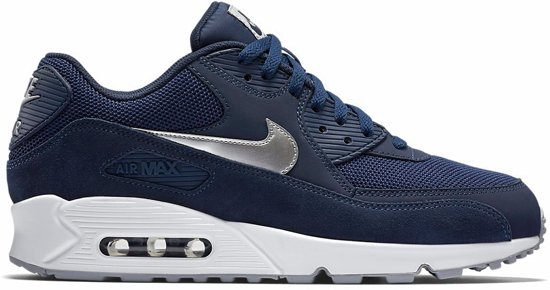 Nike Air Max 90 Essential Sneaker Heren Sportschoenen Maat 45 Mannen blauw