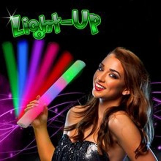 LED Foam Partystaaf Multi Color Party Sticks 288 Stuks