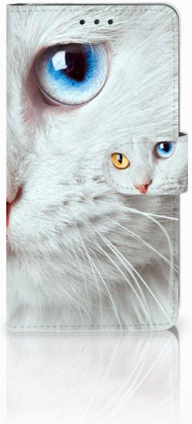 LG G4 Leuk Hoesje Witte Kat in Heuvel