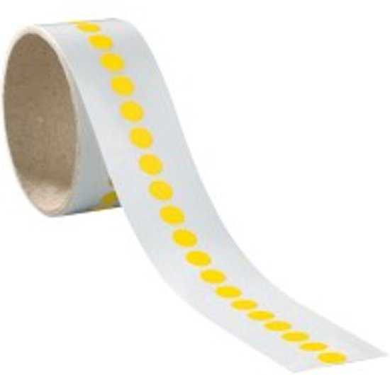 Markeringsstippen, zelfklevende folie (sticker), Ø 25 mm, 100/rol