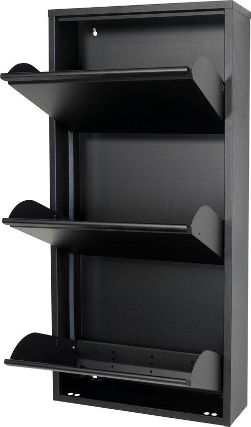 Kapstok Met Schoenenkast Te Koop.Spinder Design Billy 3 Schoenenkast Zwart