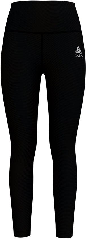 Odlo Bl Bottom Long Lou Medium Sportlegging Dames - Black/ZHD print