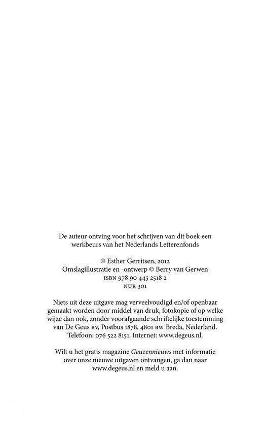 Esther Gerritsen Dorst Epub
