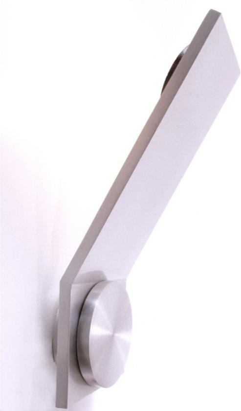 bol.com | Zoomoi Obtuso - Wandverlichting modern - zilver geborsteld ...