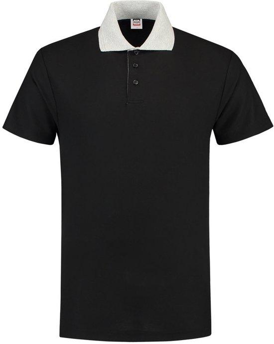 Tricorp Poloshirt contrast - Casual - 201004 - Zwart-Grijs - maat XS