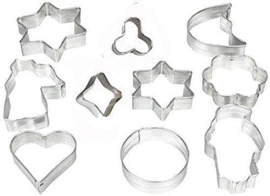 Zenker Uitsteekvormen Set 10 Stuks | Koekvormen | Vorm voor Koekjes Bakken | Uitsteekvormpjes | Uitstekers | Bakvorm