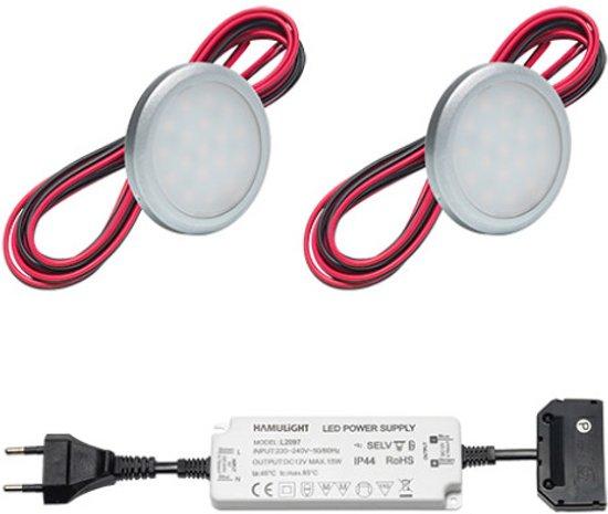 bol.com | LED onderbouwverlichting keuken Hektar | warmwit | set van ...
