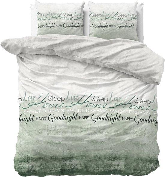 Sleeptime Home Sleep - Dekbedovertrekset - Tweepersoons - 200x200/220 + 2 kussenslopen 60x70 - Groen