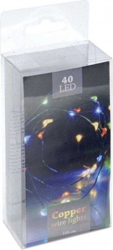 kerst led lampjes gekleurd op batterij 40 stuks kerstverlichting