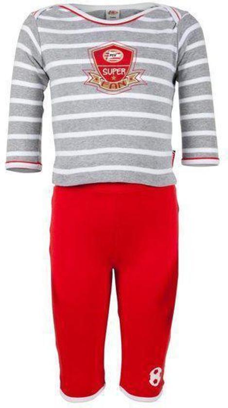 Bolcom Psv Super Fan Pyjama Baby Maat 74 80 Grijs