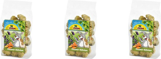 JR Farm - Knaagbolletjes - 150g - Verpakt per 3 - Knaagdierensnacks