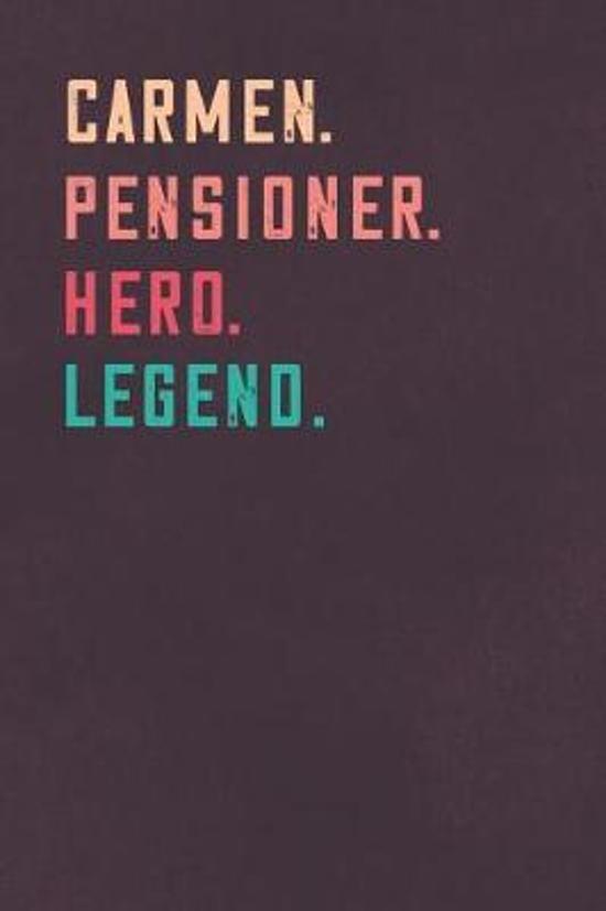 Carmen. Pensioner. Hero. Legend.
