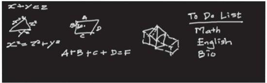 Walplus - Muursticker - Krijtbord - Zwart