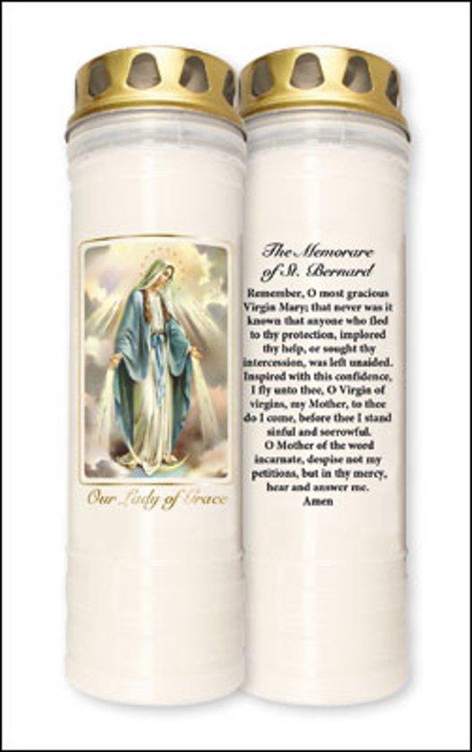 Kaarsen  Maria met gebed 2 stuks