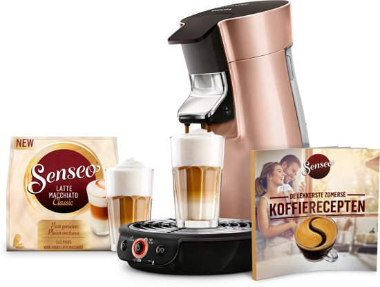 Philips Senseo Viva Café HD7831/30 Bundel - Koffiepadapparaat - Rose Goud