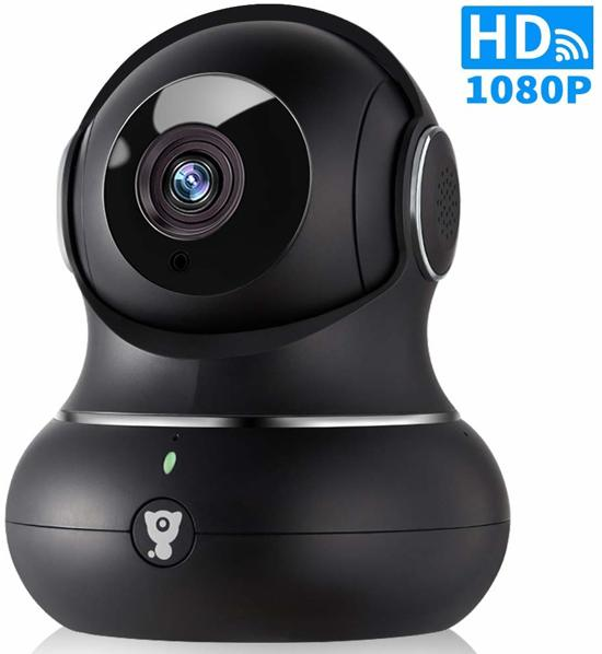 Littlelf HD IP Camera 1080p, Indoor Camera, Storage options of Local and Cloud, Black