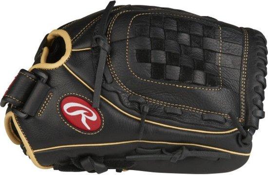 Rawlings RSO120BCC Shut Out Fastpitch Softbalhandschoen - Black/Beige - 12 inch