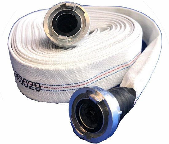 Brandweerslang ECO Plat oprolbaar - Compleet - 25mm 20m
