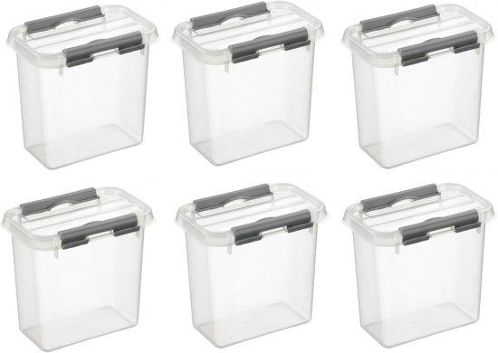 Sunware Q-Line Opbergbox - 1,1L - 6 Stuks - Transparant