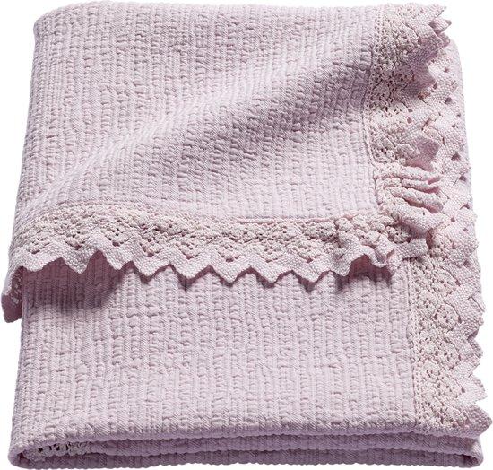 Wrinkled Lace Babydeken Roze 120x150 cm