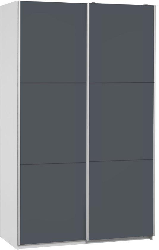 Kledingkast 120 Cm Breed.True Furniture Sammy 120 Kledingkast Ombouw Wit Deuren Donkergrijs