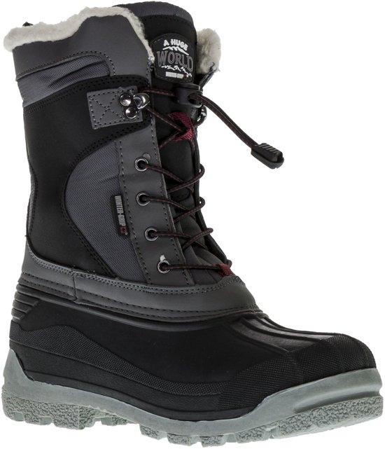 Wintergrip Snowboots - Maat 36 - Unisex - grijs/zwart/rood