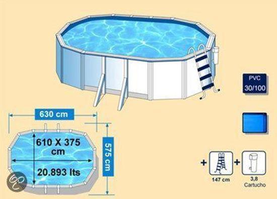 Gre Zwembad Opbouwzwembad Bora 6.1 x 3.75 M