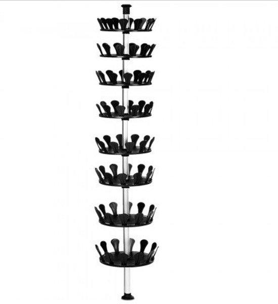 Monzana schoenenrek schoenencarrousel voor for Boeken opbergsysteem