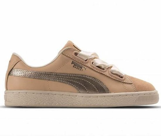 check out 236f4 f9400 Puma Basket Heart Up Natural Vachetta - Maat 38
