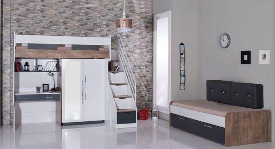 Bed Voor Kinderkamer.Bol Com Compact Kinderkamer Voor Kleine Kamer Hoogslaper Bed