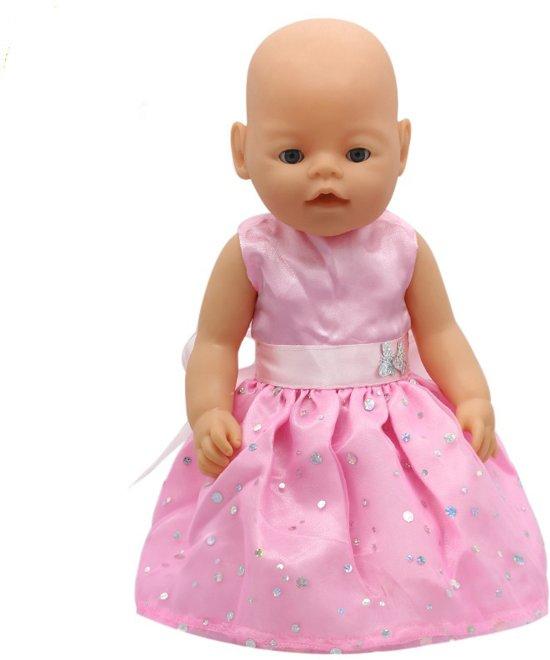 b4b8071c334d52 Voor Baby born en andere poppen met lengte van 41-45 cm - Roze jurkje