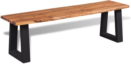 vidaXL Bankje 145 cm massief acaciahout