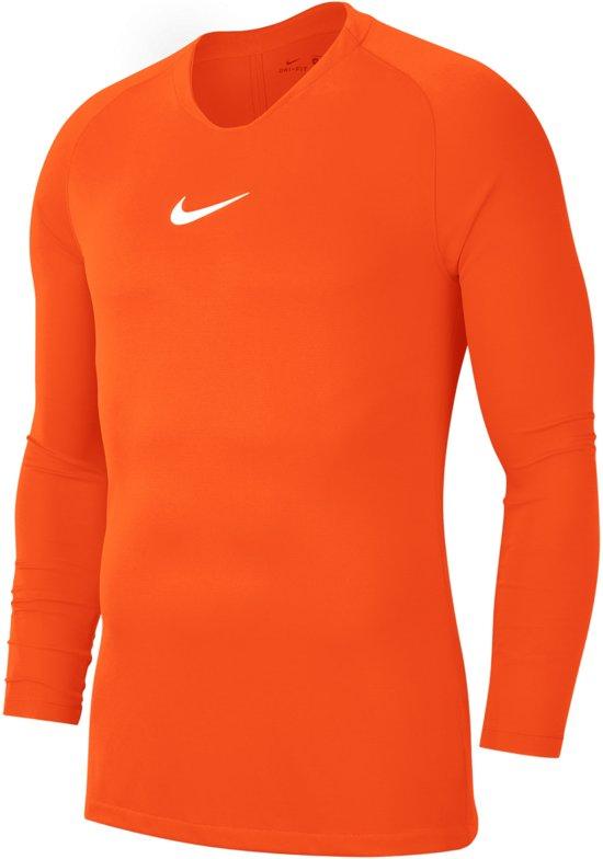 Nike Park Dry First Layer Longsleeve  Sportshirt - Maat M  - Mannen - oranje/wit