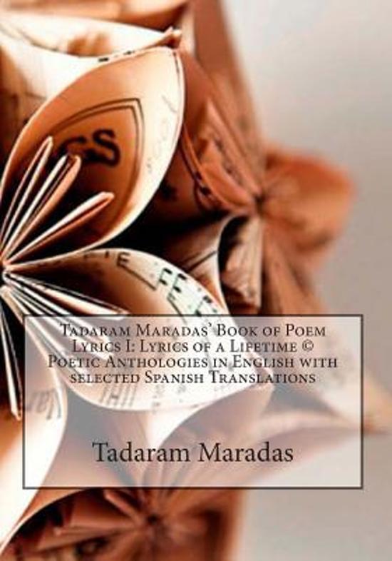 Tadaram Maradas' Book of Poem Lyrics I