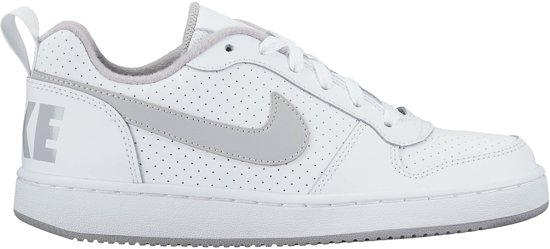 080f1e638fb Nike Court Borough Low Sneakers Junior Sportschoenen - Maat 39 - Unisex -  wit/grijs